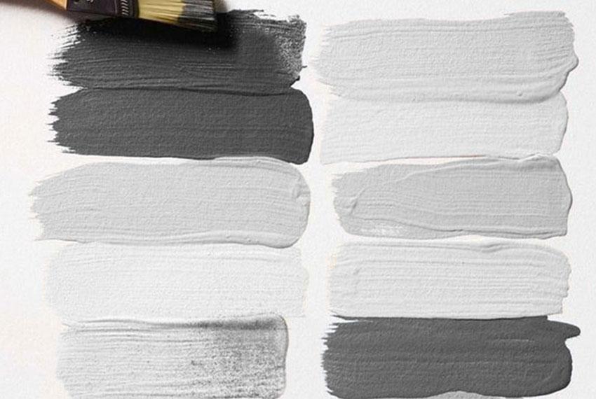 Palette von grauen Farben