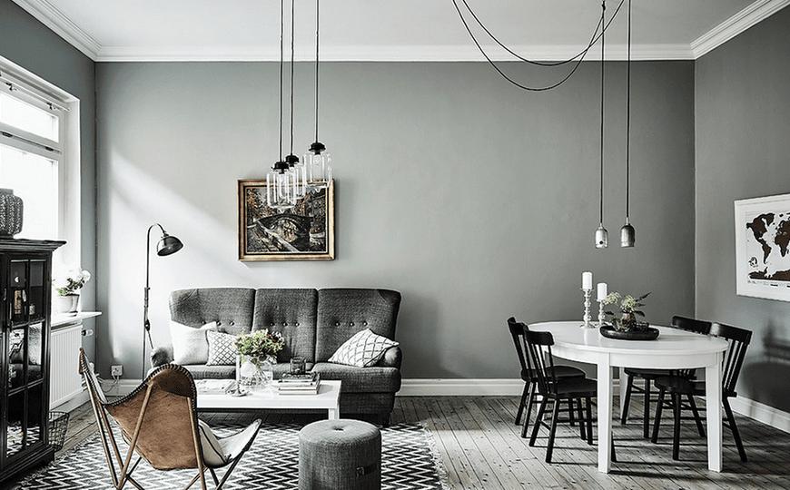 graues Wohnzimmer Zusätze