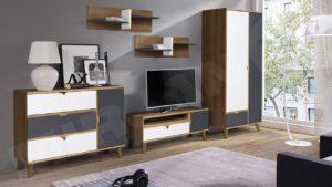 eine Reihe von Möbeln für das Wohnzimmer