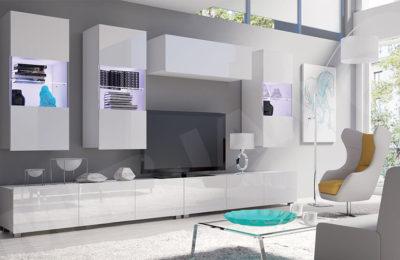 4 moderne Wohnwände also Möbelsets für ein modisches Wohnzimmer
