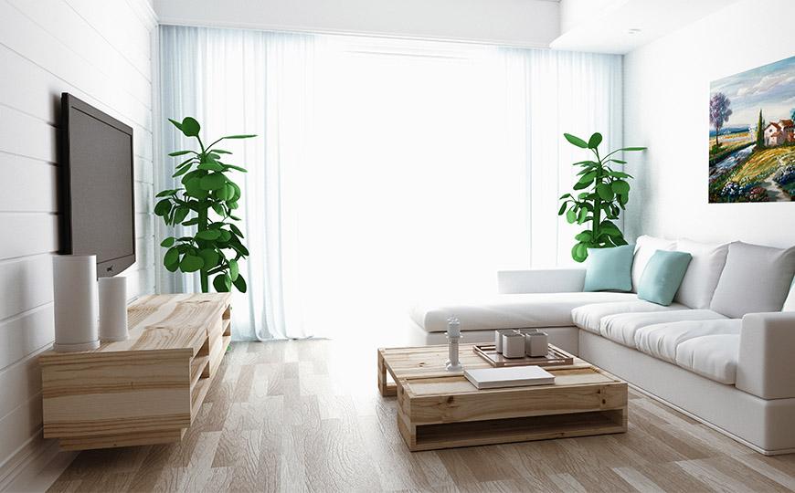 Wohnzimmer im New Nordic Stil