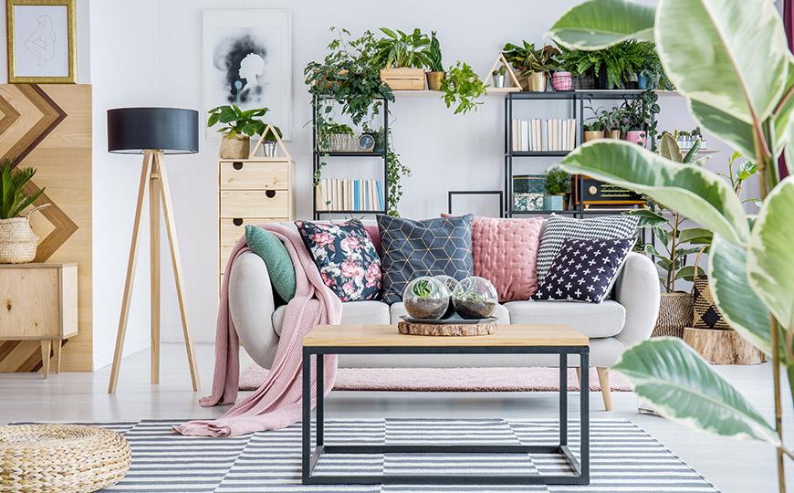 Wohnzimmer im Urban Jungle Stil