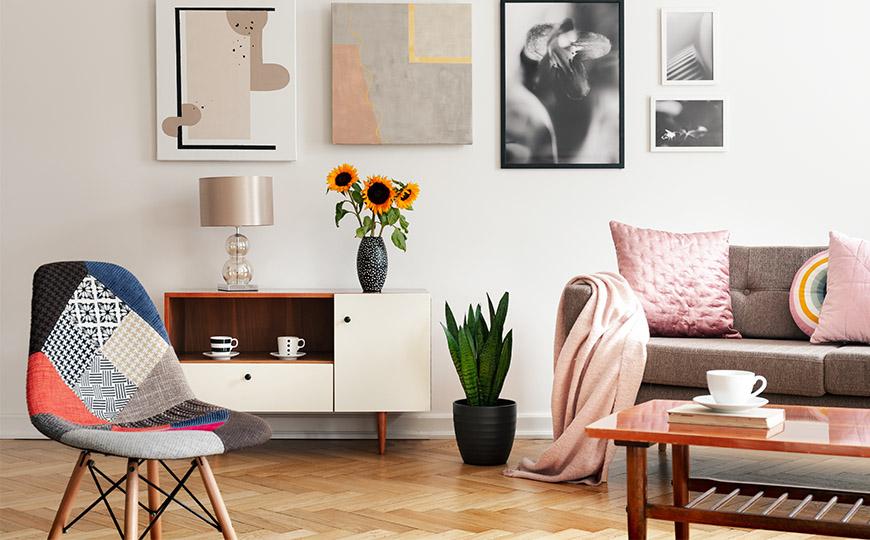 Wohnzimmer im Eklektischen Stil