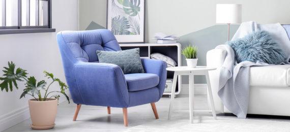 Sessel im Wohnzimmer
