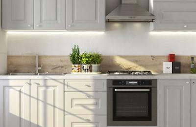 Eine elegante Küche mit den Chloe-Möbeln