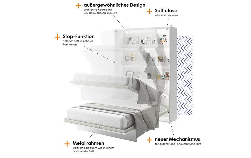 Wandklappbett Bed-Concept