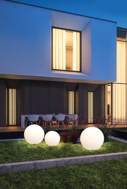 Moderne Gartenlampen