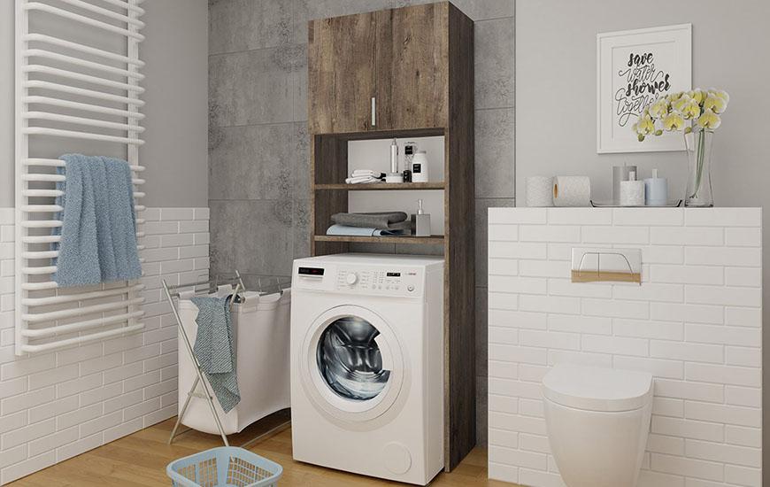 Badezimmerschrank für die Waschmaschine