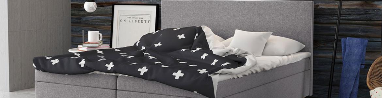 modernes Bett für ein kleines Schlafzimmer