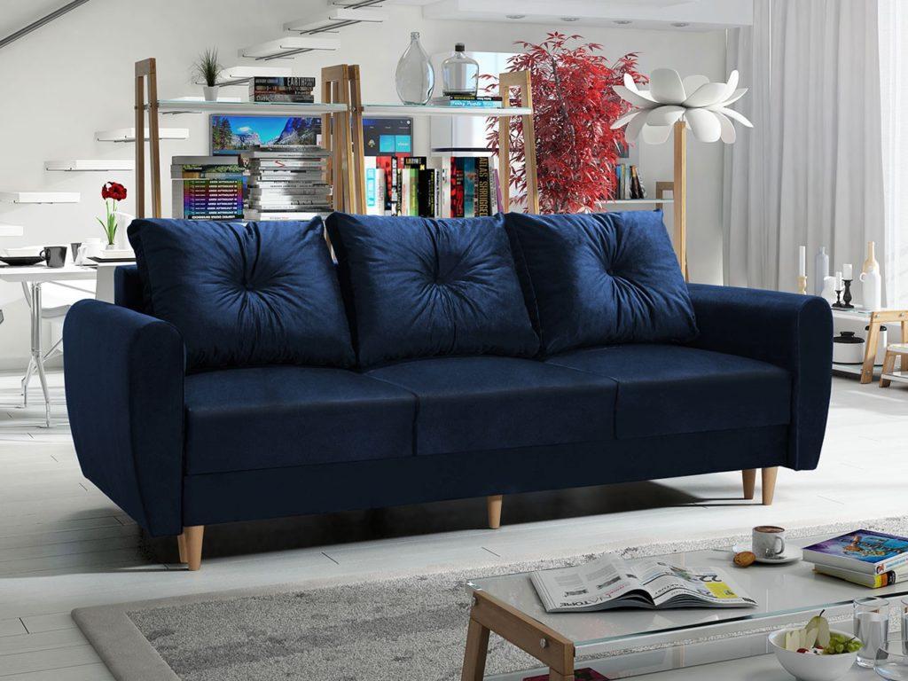 Marineblaues Sofa
